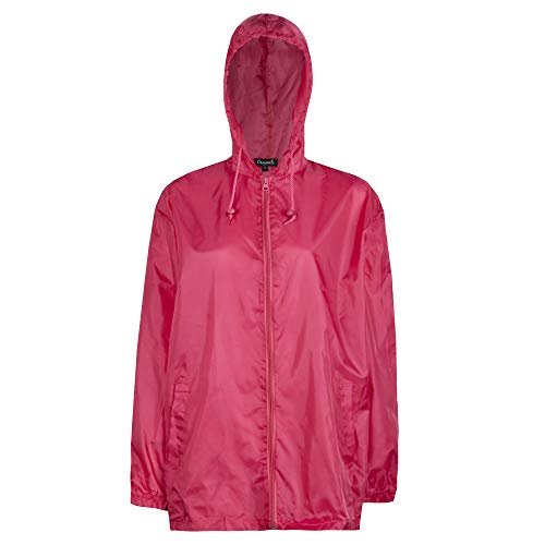 Style It Up Unisex Plain Rain Coat Mac Kagoul Jacket Water Proof Hooded Cagoul Adults Pac UK