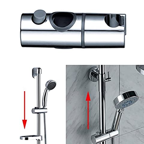 Igemy NEUF 22mm ABS Chrome Douche Rail Tête Slider support support réglable Silver
