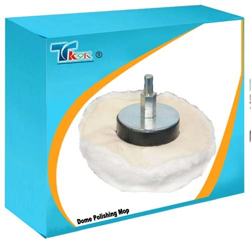 TK9K - Silverl Rückpolster Polieren von kuppelförmig Poliermop 110 mm hohe Qualität 100{dc239478a5b3be40ac7e0bc55491d7715b4c13edd8f72f407b8533a4a38489ab} weiche Baumwolle. Für innen Finaltrikot Polieren von, Flach- und unregelmäßigen Oberflächen. 6 mm Durchmesser arbor passend für die meisten Bohrmaschinen.