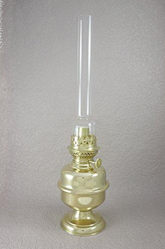 Lampe à pétrole Gaudard - Pied laiton - Hauteur 450 mm