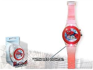Kids licensing-MV92356-Spiderman-Reloj Digital con luz LED