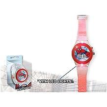 Kids licensing–MV92356–Spiderman–Reloj digital con luz LED