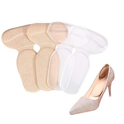 T-Forme Semelles Utilisé pour les Chaussures à Talons Hauts ou les Chaussures Trop Grandes pour Heel Foot Care et Soulagement de la Douleur au Pied des Cloques (2 paires)