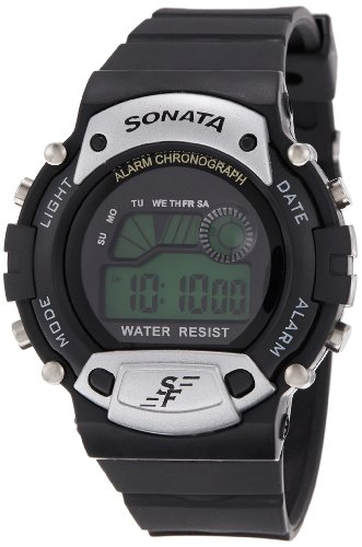 Sonata Super Fibre Digital Grey Dial Men's Watch - NG7982PP02J
