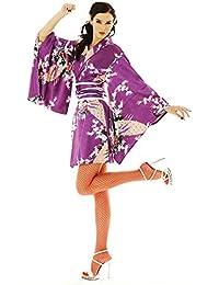 Kimono Damen Negligee Kleid Cosplay Lolita Minikleid Senbazuru
