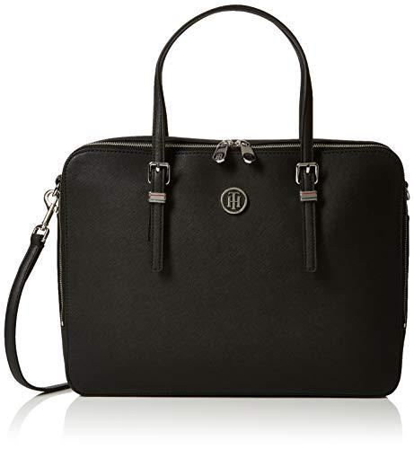 Tommy Hilfiger Damen Honey Computer Bag Laptop Tasche, Schwarz (Black), 6x28x37 cm
