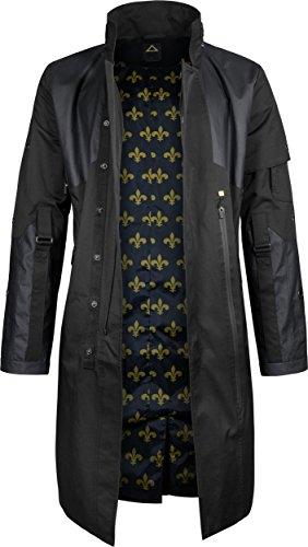 Musterbrand Deus Ex Trenchcoat Mantel Herren Jensen V4.0 Jacke schwarz M
