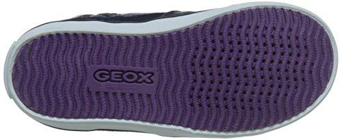 Geox B Kiwi Girl E, Sneaker, Ragazza Multicolore (Dk navy/purple)