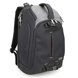 Evecase DSLR caméra sac à dos appareil photo reflex numérique / 15.6inch voyage d'ordinateur portable Daypack pour Mirrorless, système Micro 4/3, zoom élevé, ensemble de lentilles interchangeables, appareil photo numérique Full Frame professionnel