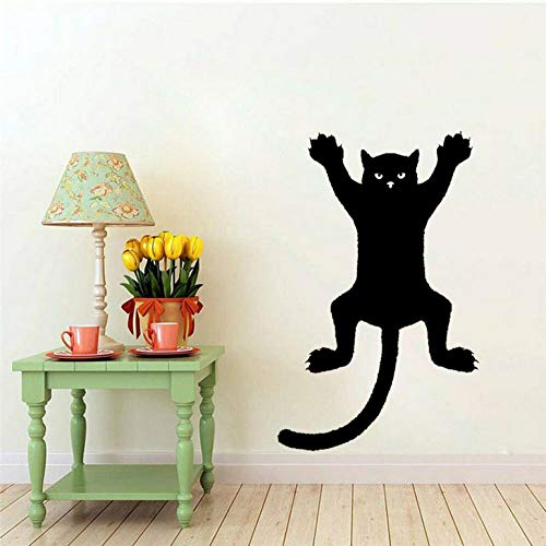 Wandaufkleber Lustige Katze an der Wand Silhouette Umriss Aufkleber Aufkleber Grafik PVC 32x50cm