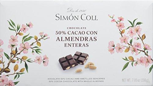 Chocolate 50% con almendras SIMON COLL (5 tabletas de 200 gr)