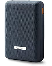URBN 10000 mAh Li-Polymer Power Bank with 2.1 Amp Fast Charge and Ultra Compact Slim Body with BIS Certification - (Blue)