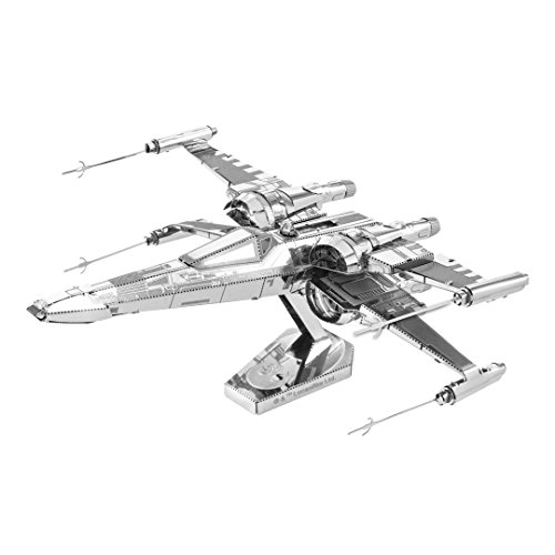 Metal Earth Fascinations MMS269 - 502665, Star Wars Poe Dameron's X-Wing Fighter, Konstruktionsspielzeug, 2 Metallplatinen, ab 14 Jahren