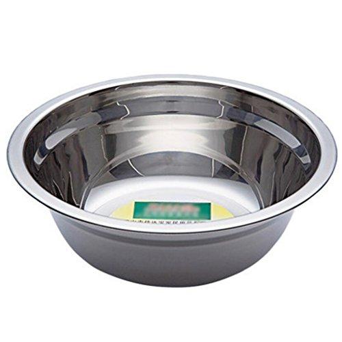 MXJ61 Bol en Torse de Soupe à la cuillère à Soupe de Soupe 304 en Acier Inoxydable (Taille : 24cm)