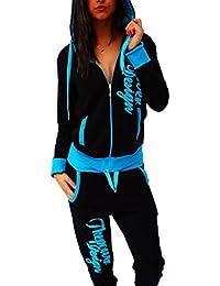 "Damen Jogginganzug Trainingsanzug Hose + Jacke Fitness ""POWER"""