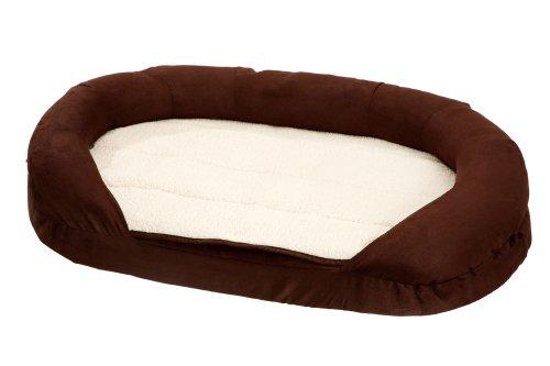 Karlie Hundebett Ortho Bed Oval, braun 100 x 65 x 24 cm