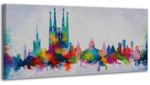 YS-Art Cuadro acrílico Barcelona Colors| Pintado