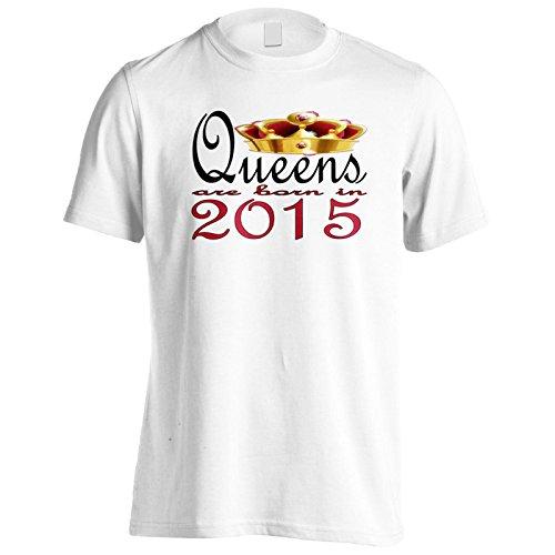 Nuove regine di design d'arte nascono nel 2015 Uomo T-shirt b751m White
