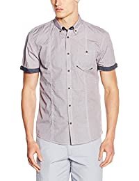 TOM TAILOR Herren Freizeit Hemd Aop 1/2 Button-Down