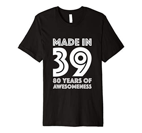 80th Birthday Shirt Men 80 Year Old Gift Grandpa Dad Eighty