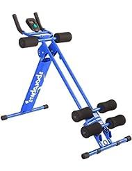 SportPlus AB Plank / AB Plank FLEX Profi-Bauchtrainer mit Trainingscomputer, 4-facher Schwierigkeitsgrad, zusammenklappbar, EN ISO 20957-1 geprüfte Sicherheit