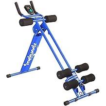 SportPlus Bauchtrainer • Bauchmuskeltrainer klappbar für zuhause • Trainingscomputer • verschiedene Schwierigkeitsgrade • gezieltes Bauchmuskeltraining • Nutzergewicht bis 100kg • Sicherheit geprüft