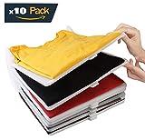 Organizador de armario para ropa. Pack de 10. Polipropileno