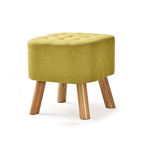 Chaise pliante QFFL Repose-Pieds en Bois Massif/Petit Banc/Tabouret de canapé en Tissu/Porte changeant Ses Chaussures Tabouret/Bas Tabouret Tabouret d'extérieur (Couleur : B, Taille : Carré)