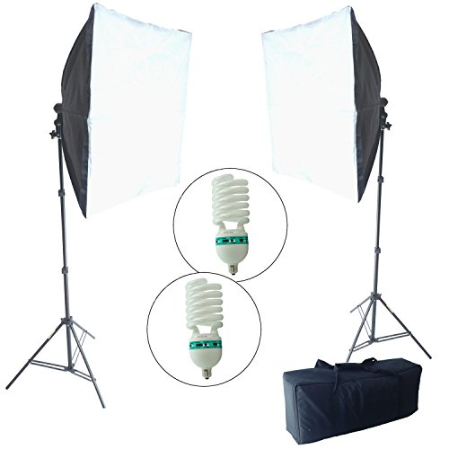 DynaSun KSB85 800W 60x60cm Kit Iluminador Dual Softbox