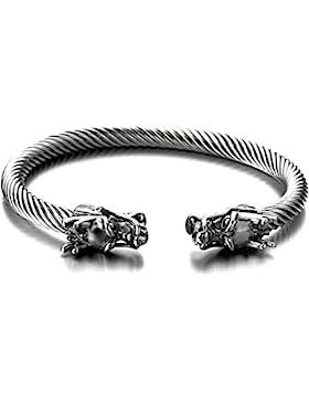 [Gesponsert]Elastische Verstellbare-Einzigartiges Design Drachen Herren Armband Edelstahl Verdrehten Stahlkabel Armreif