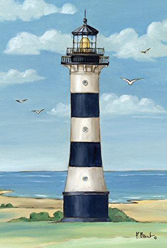 Toland Home Garden Cape Canaveral Leuchtturm 71,1 x 101,6 cm Dekorative Küste Florida Möwe Vogelhaus Flagge -