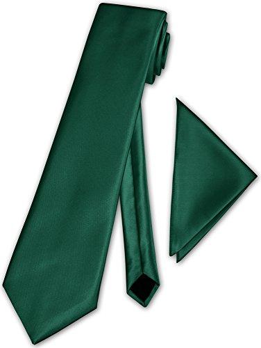Herren Krawatte klassisch mit Einstecktuch Klassik Anzug Satinkrawatte (Türkisgrün)