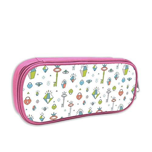 astuccio per bambini portatutto,Collezione magica carina con unicorno, principessa, drago, arcobaleno, Fairy Wings_3_6252, rosa