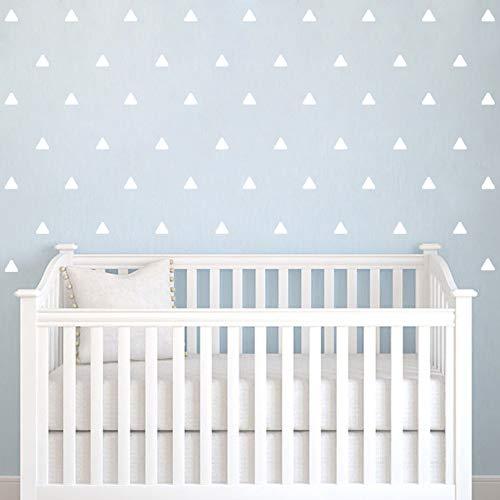 Wandtattoo Dreiecke Aufkleber,Dreiecke Wandsticker Wandaufkleber Wanddeko,Triangle Wandtattoo für Babyzimmer/Kinderzimmer Schlafzimmer Deko,Weiß,5CM,80Stück