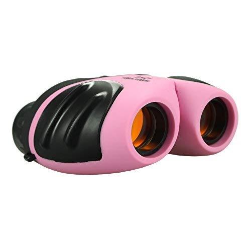 Teen Girl Geschenke, Compact Fernglas für Kinder Spielzeug für 3-12 Jahre alte Mädchen Pink TG09