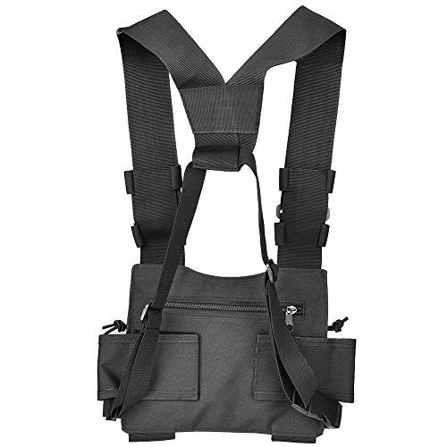 Radio Holder, Tactical Series Radio Pouch o Nylon Talkie Bag, Custodia per radio portacellulare progettata per gilet, cintura o borsa, telefono fisso, GPS, walkie-talkie