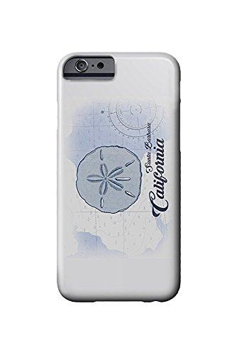 Santa Barbara, California - Sand Dollar - Blue - Coastal Icon (iPhone 6 Cell Phone Case, Slim Barely There) (Santa-dollar)