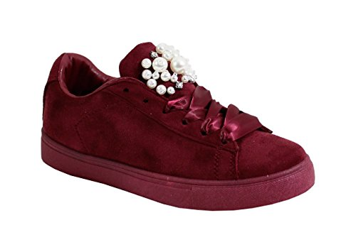 By Shoes - Damen Sneakers Wine Red