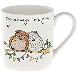 "Hand Drawn cocaniche ""Owl Always Love you"" taza de porcelana"