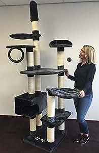 kratzbaum gro e katze xxl catdream extreme anthrazit sisalst mme 12cm speziell f r gro e und. Black Bedroom Furniture Sets. Home Design Ideas