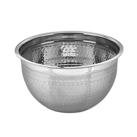 Kosma Stainless Steel Deep Mixing Bowl | Salad Bowl (Hammered Finish) - 24 cm (4 Litre)