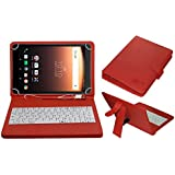 Acm Usb Keyboard Case For Alcatel A3 10 Tablet Cover Stand With Free Micro Usb Otg - Red