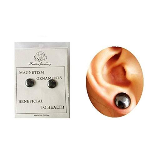 Bomcomi Unisex Health Care Magnet Ohrring-Ohr-Bolzen Magnetic Abnehmen Gesundes Stimulating Ohrbügel für Männer Frauen Mädchen