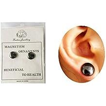 F-blue Unisex Cuidado de la Salud imán Pendiente del oído del Perno Prisionero Adelgaza