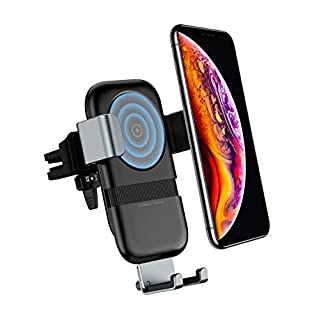 Andobil Wireless Car Charger Mount, Car Auto-Clamping Qi Automatic Charger, Black