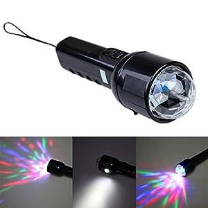 VKTECH® Lampe de poche Stade de lumière Flashlight Clignant Lampe de Salle de bal lampe disco RGB LED