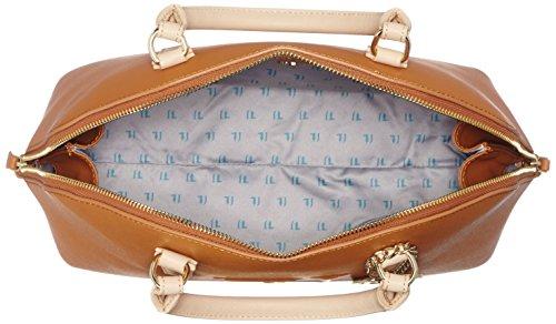 Trussardi 75b555xx53, Borsa a Mano Donna, 37x27x16 cm (W x H x L) Multicolore (Cuoio/Beige)