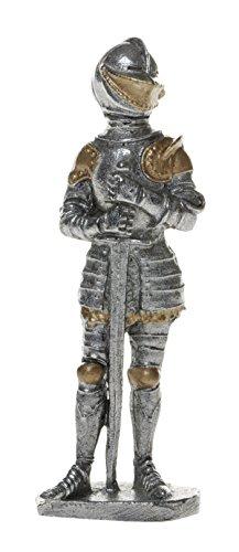 Schnabel-Schmuck Ritter mit Rüstung und Schwert 8 cm teil, gold bemalt