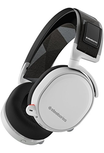 SteelSeries Arctis 7, cuffie da gioco, senza fili, surround DTS 7.1 per PC, PC / Mac / PlayStation 4 / Android / iOS / VR, Bianco