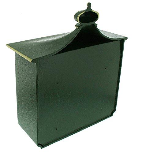 BURG-WÄCHTER, Alu-Guss-Briefkasten mit Komfort-Tiefe, A4 Einwurf-Format, Bordeaux 1895 GR, Grün - 2